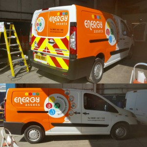 Vinyl Graphics Energy Assets van