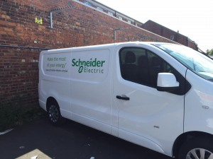 schneider electric vinyl graphics