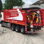 vinyl graphics and rear chevrons waste disposal truck