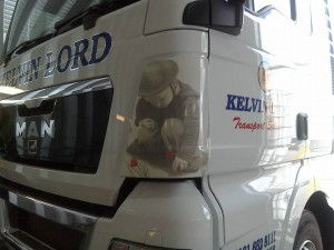 vinyl graphics large truck Kelvin Lord