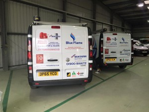 vinyl graphics van fleet