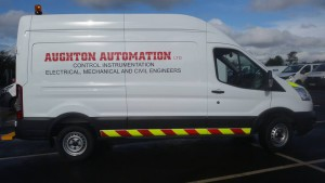 Aughton Automation vehicle graphics