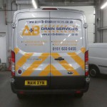 A and B drain services vehicle graphics